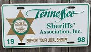 1998 Tennessee Sheriffand039s Association License Plate