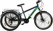 Adult 26 Mountain Tricycle 7 Speed Outdoor Bike Cruiser Trike With Cargo Basket