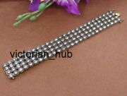 Antique Victorian Diamond Polki Bracelets, 925 Sterling Silver And Gold Plated