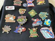 Lot Of 58 Cooperstown Dreams Park Baseball Pins Vintage 2008 And Carrying Bag - C