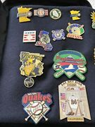 Lot Of 41 Cooperstown Dreams Park Baseball Pins Vintage 2004 Carrying Case - B