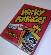 Wacky Packages Coffee Table Book 2008 1st Edition 1st Print + Bonus Stickers