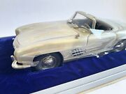 Franklin Mint Pewter Mercedes-benz 300sl Mint In Box Limited 112 Rare