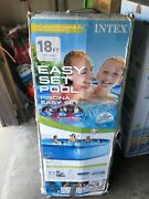 New Intex 18ft X 48in Easy Set Pool Set With Filter Pump Ladder