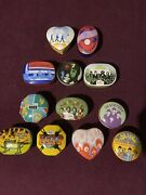 The Best Of Beatles Complete Set Of 1992 Porcelain 24k Music Box, Used