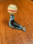 Original Seal With Moving Ball Wind-up Tin Toy -- Selling By Original Owner