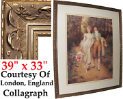 French Baroque Giltwood Gesso Carved Frame For Fine Art Painting Soulacroix