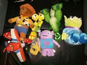 Disney/pixar Toy Story, Monsters Inc Home Planes Lot-of-7 Plush Movie Characters