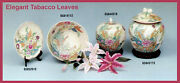 Porcelain Plate/bowl/jars Tobaccoleaves Antique Finished Reproduction Collection
