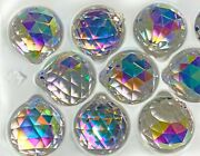 Set Of 40 - 40 Mm, Crystal Clear Ab, Ball Prisms, Suncatcher, Asfour Crystal