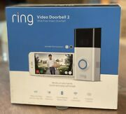 Ring Video Doorbell 2 Wireless - Battery And Wired - 1080p - Satin Nickel And Bronze