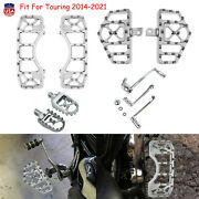 Wide Fat Mx Style Highway Foot Pegs Floorboard Fit For Harley Touring 2014-2021