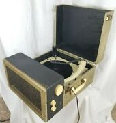 Vintage Portable Montgomery Ward Airline 4-speed Tube Amp Record/radio Player