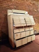 The American Cabinet Co. Antique Jewelers Apothecary 16 Drawer Cabinet Made Usa