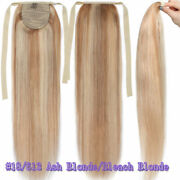 140g Drawstring Remy Thick Ponytail Clips In 100 Real Human Hair Extension 30