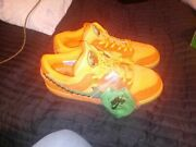 sb Dunk Greatfull Dead Orange Low Tops With Box And Green Laces Still In Bag