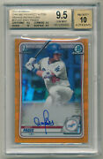 2020 Bowman Chrome Andy Pages Orange Refractor Auto 10/25 Bgs All Subs 9.5+