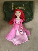 Disney Harrods Ariel The Little Mermaid Soft Plush Doll Toy New With Tag And Rare