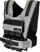 Gp Weighted Vest 25lb Removable Iron Weights Weighted Vest For Fitness Gray