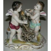 Antique 19th Germany Volkstedt Rare Original Figurine Group Porcelain Marked