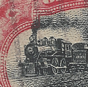 1901 Us Stamp 295 Shifted Very High And Early 2c Pan-american Train