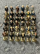 Vintage Marx Toys Plastic Presidential Figures 36 Lot 2 3/4 Made In Hong Kong