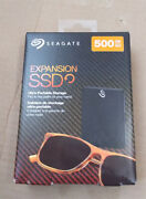 Seagate Expansion 500gb Usb External Solid State Drive Ssd Portable Black