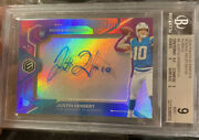 Justin Herbert /10 Panini Nfl Elements Neon Signs Bgs 9 Auto 10 Rookie Rpa Auto