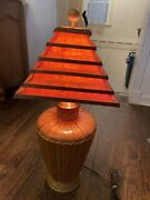 Vintage Paper Lamp Shade With Lamp