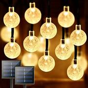2-pack Total 100 Crystal Globe Solar String Lights Outdoor Durable And Bright S...