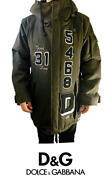 Dolce And Gabbana Green Hooded Zipper Love Patches Size 46 Men's Jacket Coat