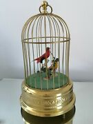 Antique German Karl Griesbaum Automaton Double Birds In Cage Rare Collectable