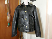 Taylors Leatherwear U.s.a. Police Motorcycle Leather Jacket Mens Size 50