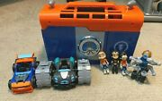 Nickelodeon Rusty Rivets Rivet Lab Toy Play Set With Figures And Cars - Used