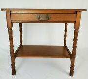 Antique Writing Desk With Drawer Cherry Wood Federal C.h. Haberkorn Early 1900and039s