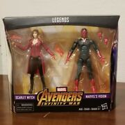 Marvel Legends Avengers Infinity War 2 Pack Scarlet Witch And Vision Wandavision