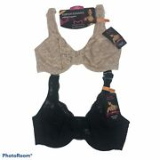 Maidenform Womenandrsquos Lace Bras Size 34dd Black And Tan Lot Of 2 Underwire