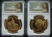 1996 Uk Great Engraved Una And The Lion Gilt China Copper Medal Ngc Ms69