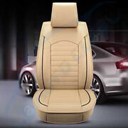 Pu Leather Car Seat Cover Beige 5-sits Suv Universal Accessories Full Set Us
