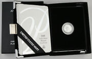 2000 W 10 1/10 Oz 9995 Platinum Eagle Proof Coin Gem +box And Coa Early Date