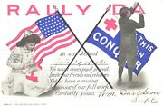 Rally Day In Our School Invitation, Kids Fixing The Sign, 1910 Postcard