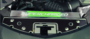 Acc Front Header Plate W/green Led And039superchargedand039 Fits 16-20 Camaro-carbon Fiber