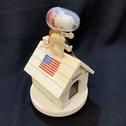 1969 Peanut Snoopy Astronots Music Box Made In Japan
