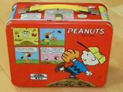 60's Vintage Snoopy Lunch Box With Water Bottle