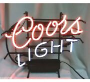 Vtg 1999 Coors Light Beer Sign Neon Lighted Bar Signs Brewing Coorand039s Man Cave