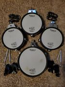 Roland 4 Pack Mesh Upgrade -1 Pd-105 And 3 Pd-85 W/ Clamps Cables L Rod Cc101