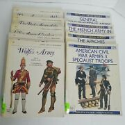 Osprey Men At Arms Lot 9 Books Military History Paperback X Library