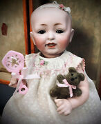 11 Kestner Solid-dome Baby With Layette Antique Doll Bisque-head German Jdk Jd