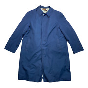 Vintage Menand039s Eddie Bauer Lord Forecaster Goose Down Trench Coat Size Xl B211