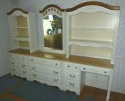 Bedroom Furniture 7 Pcs Includes Mirror 2 Hutches Chest Of Drawers 2 Base Desk
